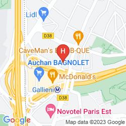 Karte IBIS PARIS PORTE DE BAGNOLET