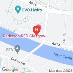 Karte HILTON GARDEN INN GLASGOW CITY CENTRE
