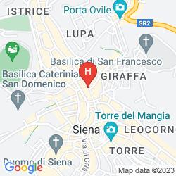 Karte GRAND HOTEL CONTINENTAL SIENA - STARHOTELS COLLEZIONE