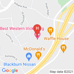 Karte BEST WESTERN VICKSBURG