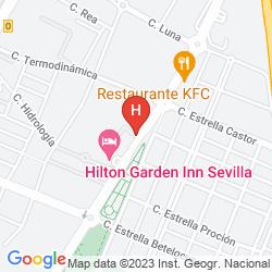 Karte HILTON GARDEN INN SEVILLA