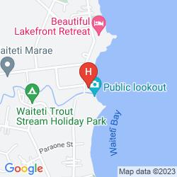 Karte WAITETI LAKESIDE LODGE