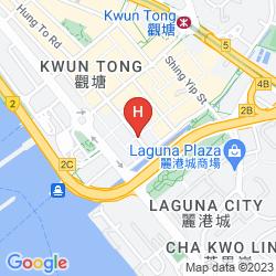 Karte DORSETT KWUN TONG, HONG KONG