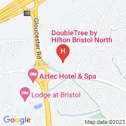Karte DOUBLETREE BY HILTON HOTEL BRISTOL NORTH