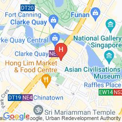 Karte IBIS BUDGET SINGAPORE CLARKE QUAY