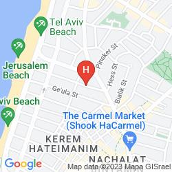 Karte YARDEN BEACH APARTMENTS