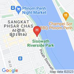Karte RIVERSIDE SUITES PHNOM PENH