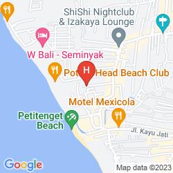 Karte ALU BALI VILLA