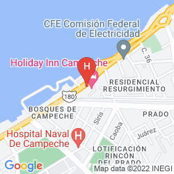 Karte HOLIDAY INN CAMPECHE