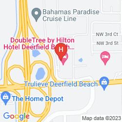 Karte DOUBLETREE BY HILTON HOTEL DEERFIELD BEACH - BOCA RATON