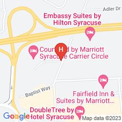 Karte QUALITY INN SYRACUSE CARRIER CIRCLE