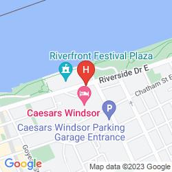 Karte HARRAH'S WINDSOR CASINO