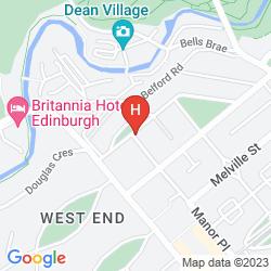 Karte EDINBURGH THISTLE
