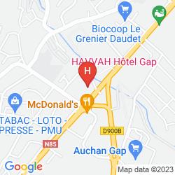 Karte COMFORT HOTEL GAP