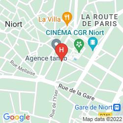 Karte BEST WESTERN HOTEL DE LA BRECHE