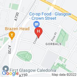 Karte BEST WESTERN GARFIELD HOUSE