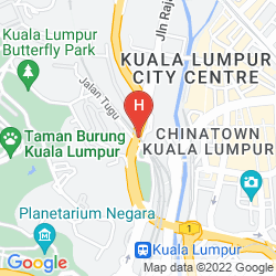 Karte THE MAJESTIC HOTEL KUALA LUMPUR, AUTOGRAPH COLLECTION