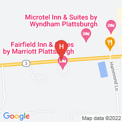 Karte HAMPTON INN - SUITES PLATTSBURGH