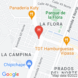 Karte HOTEL INNOVA CHIPICHAPE