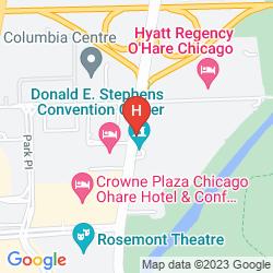 Karte HILTON ROSEMONT/CHICAGO O'HARE