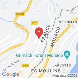 Karte LES JARDINS D'ELISA APPARTHOTEL