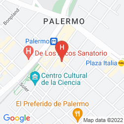 Karte HOSTEL SUITES PALERMO