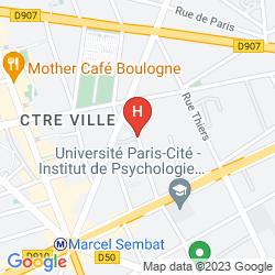 Karte ALPHA PARIS TOUR EIFFEL