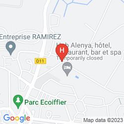 Karte CELA ALENYA HOTEL RESIDENCE & SPA