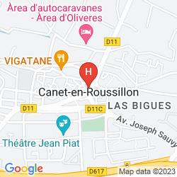 Karte CELA CANET HOTEL EUROPA & RESIDENCES