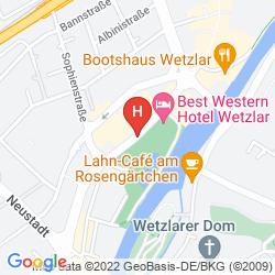 Karte BEST WESTERN HOTEL WETZLAR
