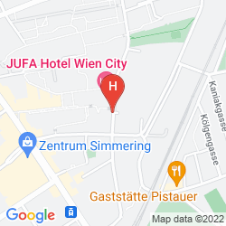 Karte JUFA WIEN CITY
