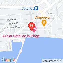 Karte AZALAI HOTEL COTONOU