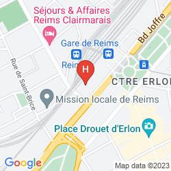 Karte RESIDHOME REIMS CENTRE
