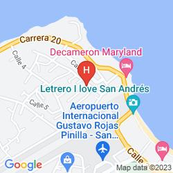 Karte CALYPSO BEACH WELCOME
