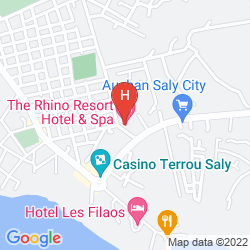 Karte THE RHINO RESORT HOTEL & SPA