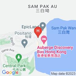 Karte AUBERGE DISCOVERY BAY