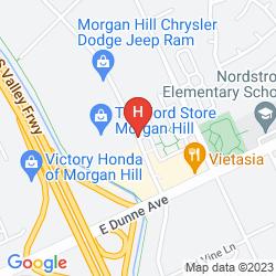 Karte HOLIDAY INN EXPRESS HOTEL & SUITES SAN JOSE MORGAN HILL