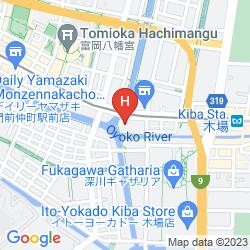 Karte DAY NICE HOTEL TOKYO