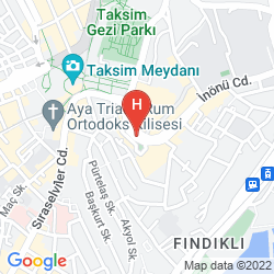 Karte CVK PARK BOSPHORUS HOTEL ISTANBUL