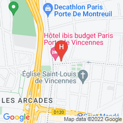 Karte SEJOURS & AFFAIRES ST MANDE MONTREUIL