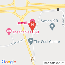 Karte DUNSILLY HOTEL