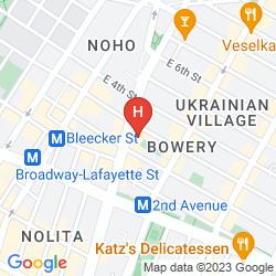 Karte THE BOWERY HOTEL