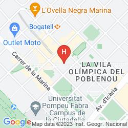Karte H10 MARINA BARCELONA