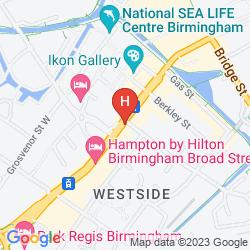 Karte TRAVELODGE BIRMINGHAM CENTRAL BROAD STREET