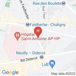 Karte APARTHOTEL ADAGIO ACCESS PARIS REUILLY