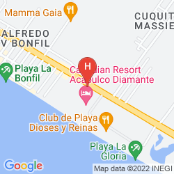 Karte CANADIAN RESORT ACAPULCO DIAMANTE