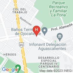 Karte GRAN HOTEL ALAMEDA