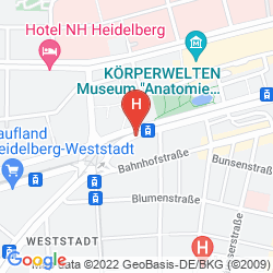 Karte HOLIDAY INN EXPRESS HEIDELBERG CITY CENTRE