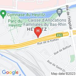 Karte HOLIDAY INN EXPRESS STRASBOURG CENTRE