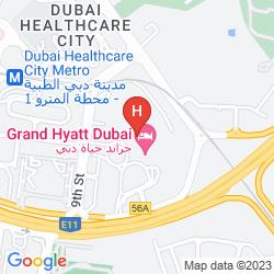 Karte GRAND HYATT DUBAI